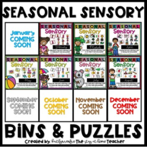 HSPS - Sensory Bins and Puzzles